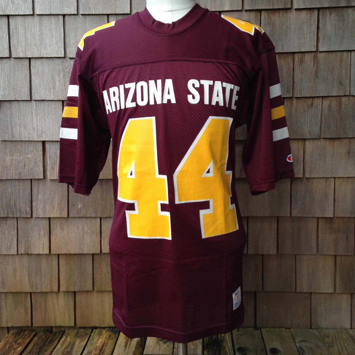 Vintage 80s ARIZONA STATE Sun Devils Authentic Football Jersey #44 by Champion - Small - University 8sfTUvC