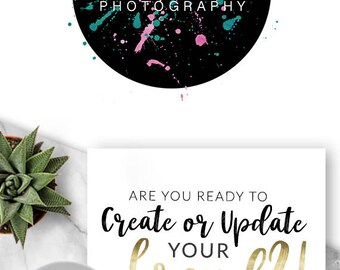 Logo Design, Premade Logo, Branding, Blog Header, Business Logo, Photography, Boutique, Shop, Jewellery, Store, Website, Artist, Paint