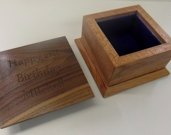 Luxury small wooden celebration box