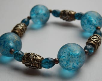 """Blue bracelet """"Bubble bath"""""""