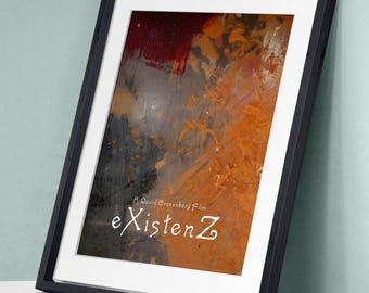 eXistenZ - David Cronenberg Jude Law Jennifer Jason Leigh Ian Holm Willem Dafoe Art Print Wall Decor Inspirational Poster Movie Quote