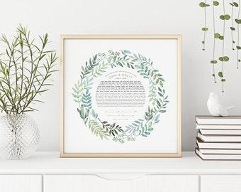 Spring Wreath Ketubah Print