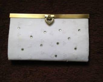White rhinestone purse