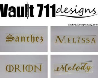 Create Your Own Custom Text Vinyl Decal