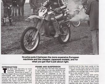Can-Am Bombardier MX-6 250 1980 motorcycle Australian road /track test 6 pages.
