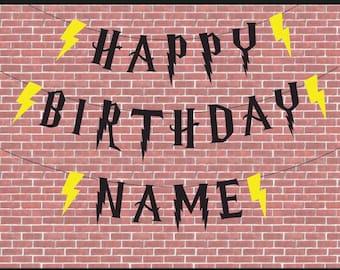 Harry Potter Inspired Happy Birthday Sign | Harry Potter | Harry Potter Birthday | Happy Birthday