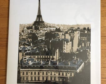 Original Art Print Signed and Numbered / Paris Eiffel Tower