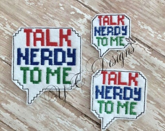 Talk Nerdy to Me Feltie Nerdy Bubble Feltie EMBROIDERY FILE