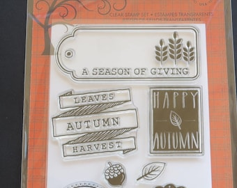 """AutumnLeaves -  Hero Arts Clear Stamps 4""""X6"""" - CL714"""