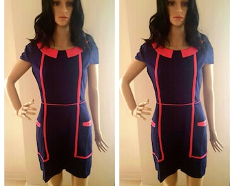 Navy and Pink All G.I.R.L. Midi Dress