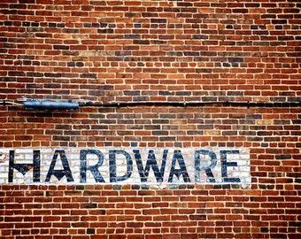 Art for Men, Man Cave Art, Hardware Sign, Industrial Chic Decor
