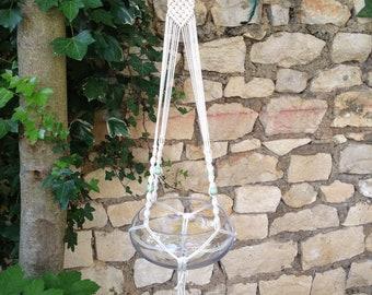 Macrame hanging feather • (+ vase)