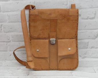 mens leather bag Vintage father gift|for|him leather messenger bag leather crossbody bag boho leather bag Shoulder bag Vintage  Satchel Bag