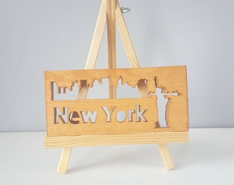 New York City Skyline, NYC Cityscape, Statue Of Liberty, New York Souvenir, New York Skyline, NYC Skyline, New York Wall Art For Him,