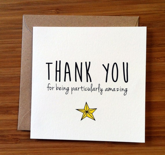 You Re Amazing Love: Thank You Card / Appreciation Card / You're Amazing A Star