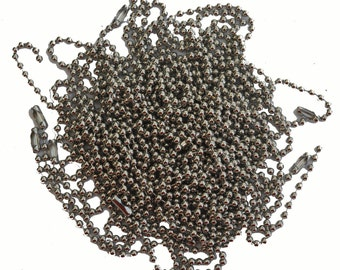 2.4mm MATTE SILVER Ball Chain Necklace for your Soldered Art Charms