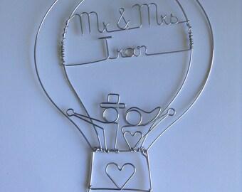 Hot Air Balloon Wedding Cake Topper: LOVE is in THE AIR