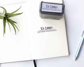 Custom bookplate stamp - personalized bookplate - ex libris - this book belongs to stamp - B0017