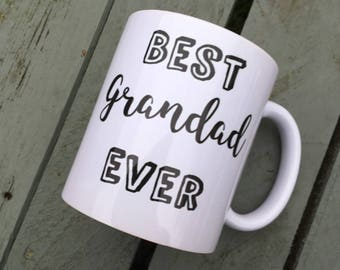 Best grandad ever mug, cup, gift idea, gift for him