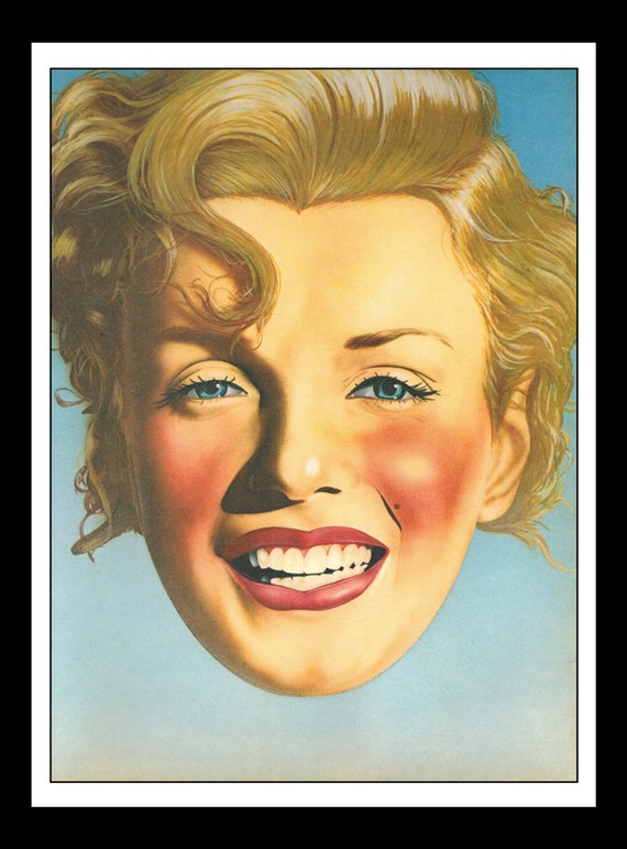Playboy Vintage Pinup May 1979 Marilyn Monroe Illustration By
