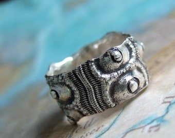 Sea Urchin Ring, Nautical Jewelry, Silver Ring Size 4 5 6 7 8 9 10 11 12 13 14 15, Nautical Rings, Nautical Jewelry Beach Ring Beach Jewelry
