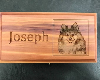 Pet Urns- Custom Laser Engraved with Text and Photo