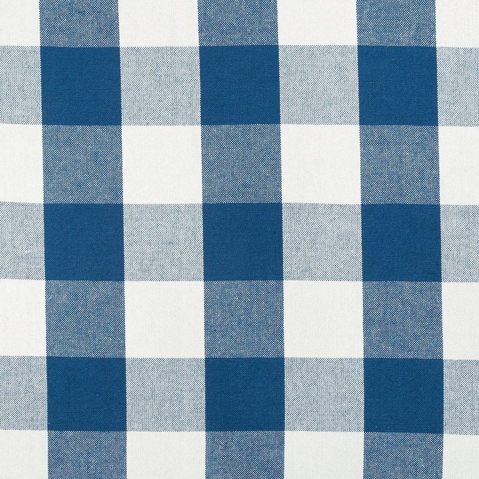 Navy Blue Plaid Upholstery Fabric by the Yard Large Scale
