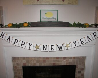 Happy New Year Banner Decor Decorations - 2017 - Celebrate - New Years Eve - Party