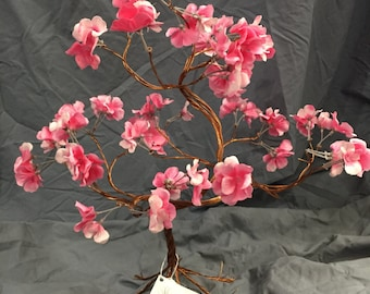 Pink flower copper tree