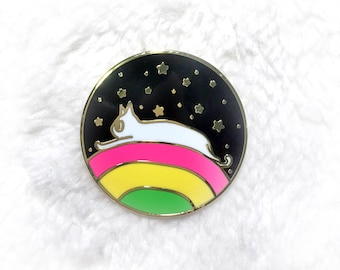 Cat Enamel Pin, Cat Lapel Pin, Rainbow Enamel Pin, Space Enamel Pin, Cat Pin, Cute Pin, Star Enamel Pin