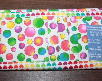 Multicolor Bubbles Flat Wallet