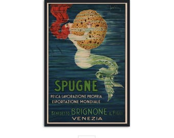 Vintage ad poster from Venice, home wall art, bathroom decor, P065