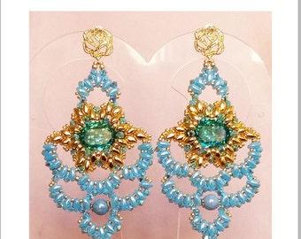 "TUTORIAL ""Cinderella"" earrings / orecchini"