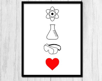 Science Poster Science Teacher Gifts Science Art Chemistry Gift Chemistry Teacher Gift Ideas Digital Download Instant Download Printable Art