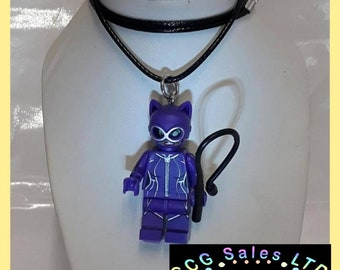 Catwoman Mini Fig Toy Necklace