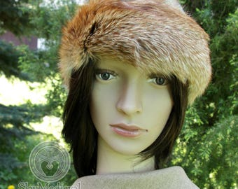 Sale! Early madieval hat, round hat form Birka with fox fur. Ready for shipping! perfect for historical reenactors of Vikings