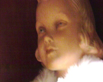 Antique French Little Girl Mannequin, Life Size Doll.