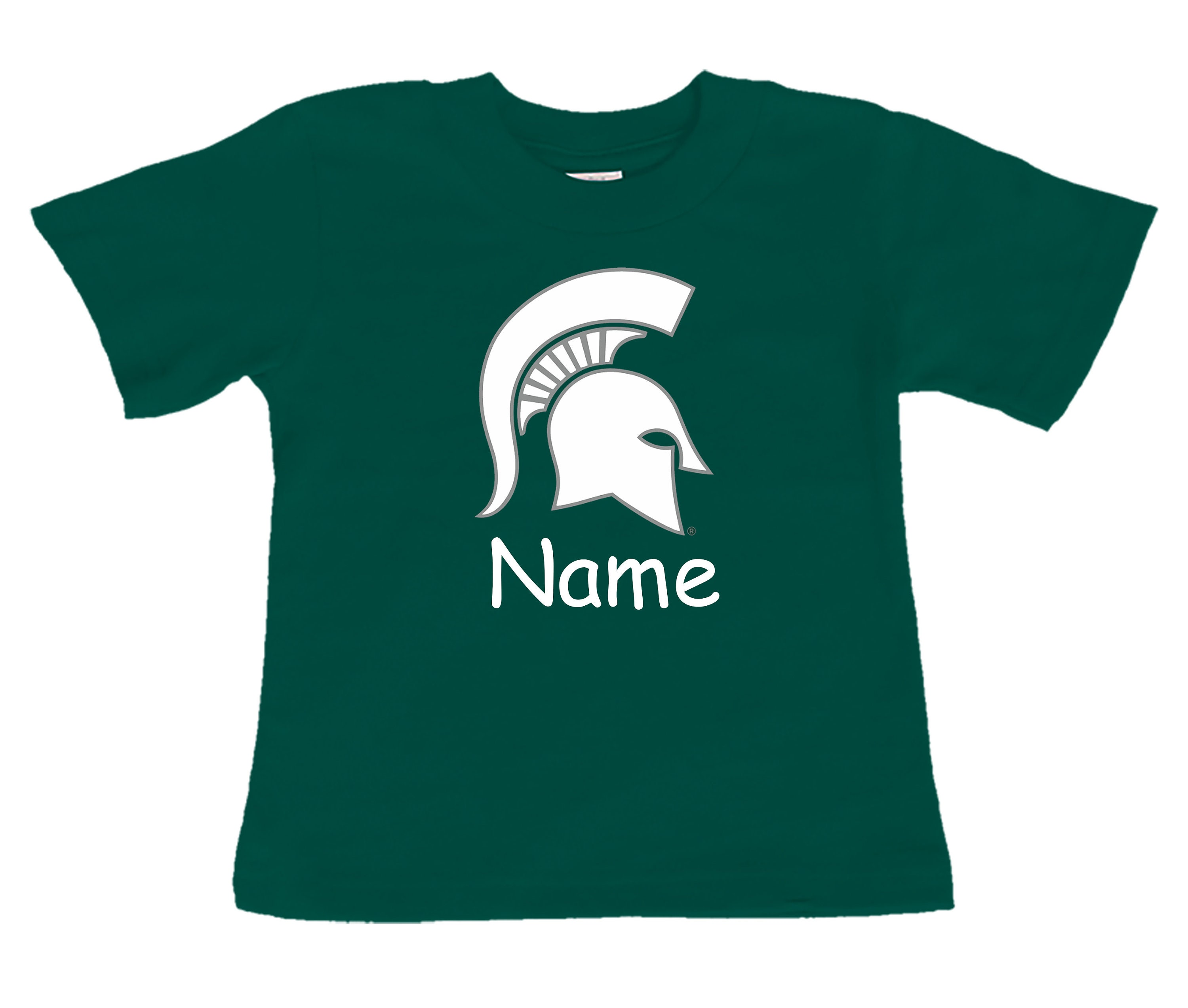 Michigan State Spartan Personalized Color Baby Toddler T Shirt