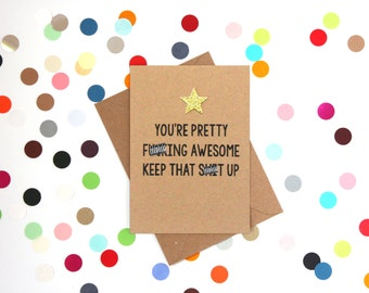 Funny Birthday Card, Funny well done card, Funny Thank you card, Funny Friendship Card, Funny birthday card best friend, Encouragement card