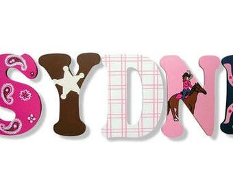 Western Letters, Cowgirl Letters, Wooden Letters, Wall Letters for Nursery, Wall Decor, Wall Letters, Wall Hanging, Nursery Letters