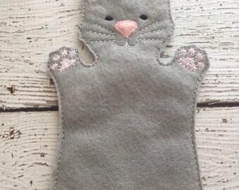 Cat hand puppet, child size