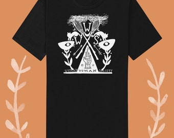 witchy woman society unisex black or white tee