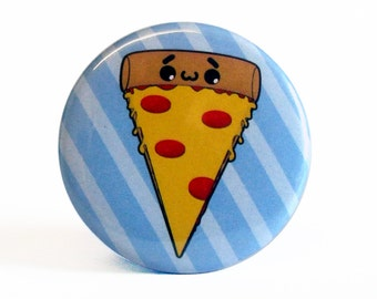 Cute 38mm 1.5 Inch Pizza Badge
