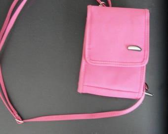 Reduced! Vintage Travelon Pink Passport Holder Purse Crossbody handbag