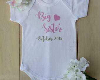 Pregnancy Announcement Bodysuits, Pregnancy Announcement Shirts, Big Sister Bodysuits, Big Sister Shirts, Big Sister Onesies