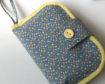 Travel nappy changing bag,  Nappy wallet and change mat, travel changing mat, nappy change bag, nappy clutch bag, travel nappy change set