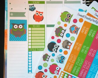 Retro Owl Weekly Planner Kit!  Available for Erin Condren Life Planner or MAMBI/Happy Planner