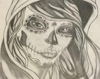 Dia de Los Muertos (day of the dead) Hoody Girl