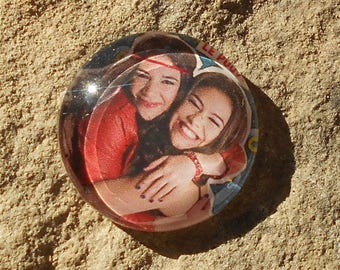 Glass cabochon 20 mm chica vampiro collection