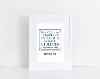 Father's Day Print, Proverbs, gift for dad, dad birthday gift, fathers day print, wedding gift for dad, Bible Verse, to dad from daughter